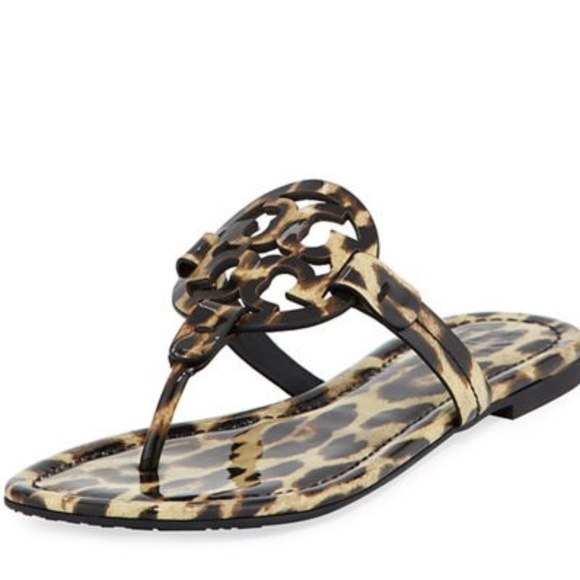 be508dc9a04e Tory Burch Leopard Print Thong Sandals 7.5   8.5